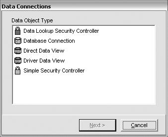 Создания объекта данных в Rave Reports - выбор типа источника